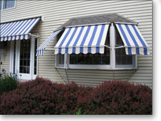 Traditional Window Awning Installed by JMT Awnings
